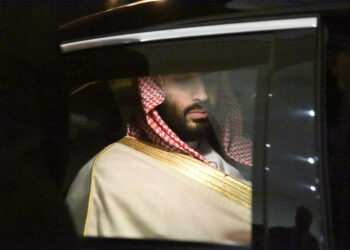 Saudi Crown Prince Mohammed bin Salman is driven to a meeting with Algerian Prime Minister upon the former's arrival at Algiers on December 2, 2018. (Photo by RYAD KRAMDI / AFP)        (Photo credit should read RYAD KRAMDI/AFP via Getty Images)