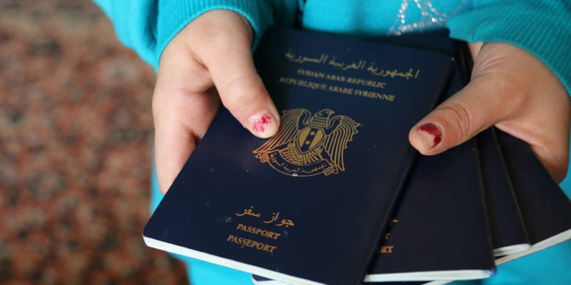 ISTANBUL - APRIL 1: The Syrian passports of the Hannan family, who fled Damascus one year ago for Istanbul. They may have left utter destruction, but now the family lives in poverty. April 1 2014.        (Tanya Talaga/Toronto Star via Getty Images)