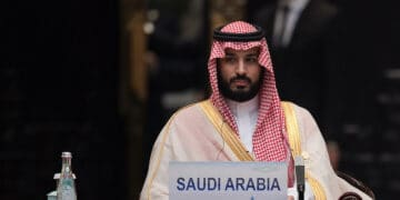 HANGZHOU, CHINA - SEPTEMBER 04:  Saudi Arabia Deputy Crown Prince Mohammed bin Salman attends the G20 opening ceremony at the Hangzhou International Expo Center on September 4, 2016 in Hangzhou, China. World leaders are gathering for the 11th G20 Summit from September 4-5. (Photo by Nicolas Asfouri - Pool/Getty Images)