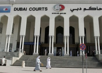 A general view shows the Dubai court where an appeal was upheld on February 17, 2008 for two 15-year jail terms handed down against two Emiratis convincted of raping a French-Swiss teenager.  AFP PHOTO/KARIM SAHIB (Photo credit should read KARIM SAHIB/AFP via Getty Images)
