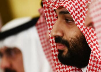 Saudi Arabia's Crown Prince Mohammed Bin Salman attends a working breafast with US President Donald Trump (not pictured) during the G20 Summit in Osaka on June 29, 2019. (Photo by Brendan Smialowski / AFP)        (Photo credit should read BRENDAN SMIALOWSKI/AFP via Getty Images)