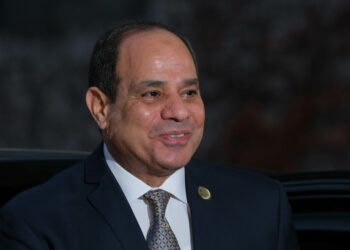 BERLIN, GERMANY - NOVEMBER 19: Abdel Fattah El-Sisi, President of Egypt, arrives for the Compact with Africa summit at the Chancellery on November 19, 2019 in Berlin, Germany. The summit, hosted by the German government, brings together leaders from 12 African nations and seeks to further the groundwork for increased private investment in those countries. (Photo by Sean Gallup/Getty Images)
