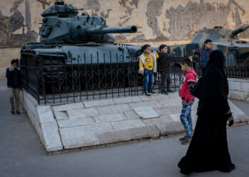CAIRO, EGYPT - DECEMBER 16:  Children play on a tank on display at a military museum on December 16, 2016 in Cairo, Egypt. Since the 2011 Arab Spring, Egyptians have been facing a crisis, the uprising brought numerous political changes, but also economic turmoil, increased terror attacks and the unravelling of the once strong tourism sector. In recent weeks Egypt has again been hit by multiple bomb blasts, the most recent killed 26 Christians inside the St Peter and St Paul Church during Sunday mass. As Christians took to the streets chanting anti-government slogans, fears grow of an escalation in militant activity which would further deal damage to a country trying to rebuild. In recent months protests against rising fuel and food prices, calls for mass anti-government demonstrations and the continued terror attacks have seen Egyptian president Abdel Fattah Al-Sisi, suffer a significant drop in popularity. Mr. Al-Sisi has promised change, fearing anger and desperation could lead to popular unrest, however inflation currently sits at the highest level in seven years, jobless rates are above 13percent and more than 90million people are said to be living in poverty. The outlook forced the government to seek a $12 billion bailout from the International Monetary Fund, pushing the country to float the Egyptian pound to qualify for the loan. The move led to a sharp devaluation of the Egyptian pound which now sits at 18EGP to the dollar. The turmoil is affecting not only the poor but both the middle-class and the wealthy as food and commodity prices skyrocket.  (Photo by Chris McGrath/Getty Images)