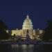 View of Capitol Building at night, seat of United States Congress, 1827, Washington DC, District of Columbia, United States of America, 19th century.